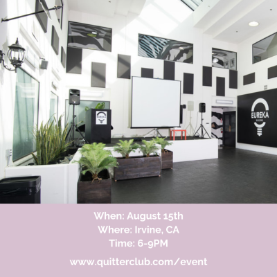 Quitter Club Event Flyer 2019