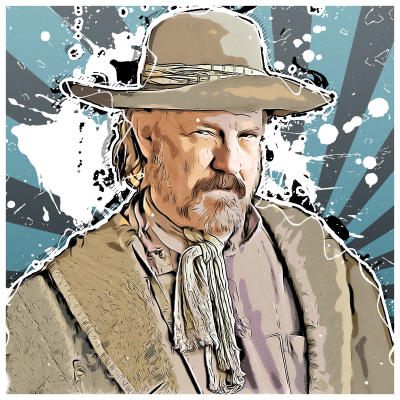 A digital portrait of the world-famous actor Jim Beaver.