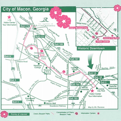 Cherry Blossom Trail Map