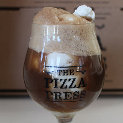 Pizza press - stout float