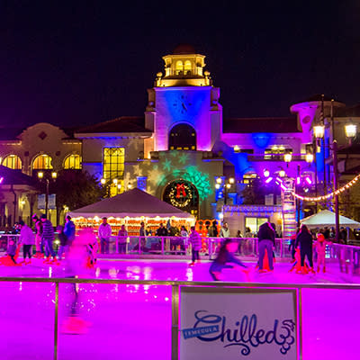 Romantic Ice Skating in Old Town Temecula