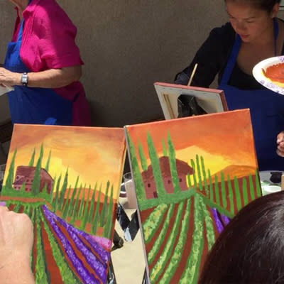 Wine, Dine and Painting
