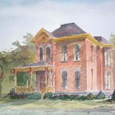 Finger Lakes Visitors Connection's office portrayed in a watercolor painting