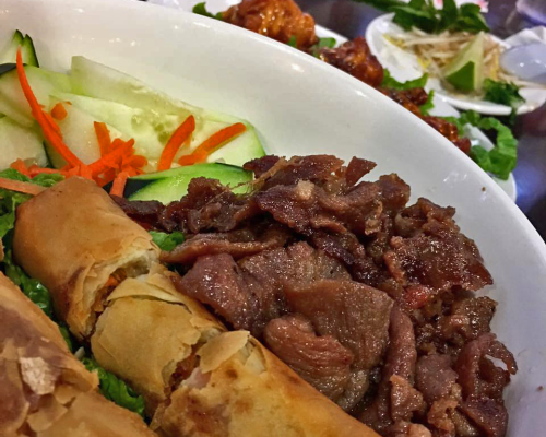 Egg Rolls with Beef at Phosky
