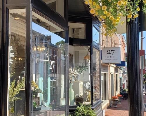 27 south storefront and glass displays