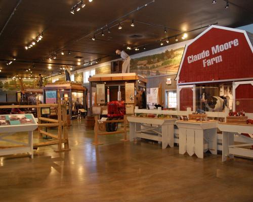 Exhibits inside the Loudoun Heritage Farm Museum