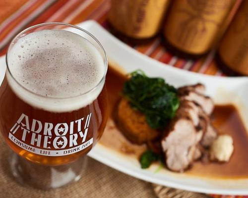 Adroit Theory beer with a meal