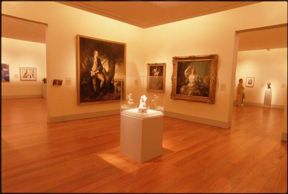 Gallery exhibit at the Cameron Art Museum