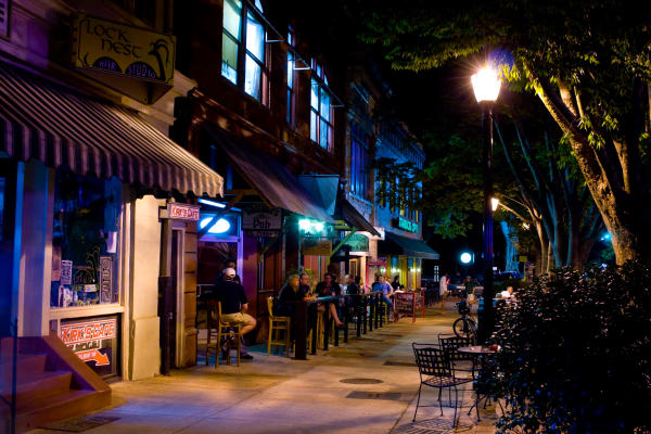 Night Scene of Downtown Athens, GA
