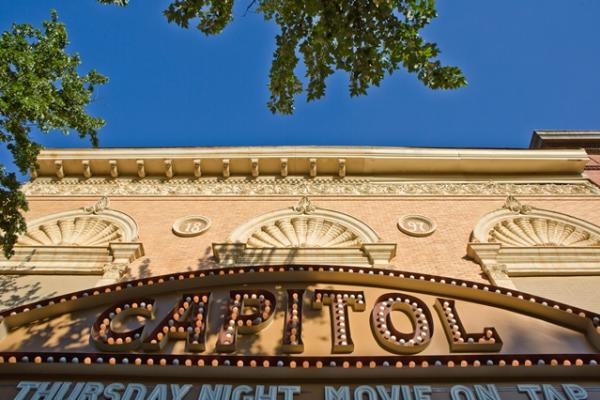 Vintage sign on the Capitol Theatre in Macon, GA
