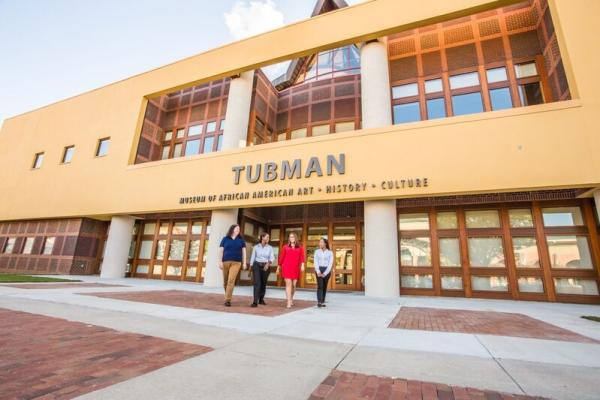Exterior of Tubman Museum of African American Art, History, and Culture in Macon, GA