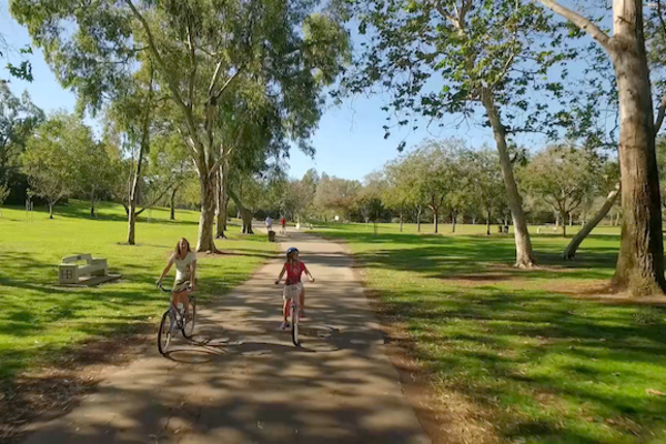 Debbie and her family enjoy riding their bikes throughout Central Park