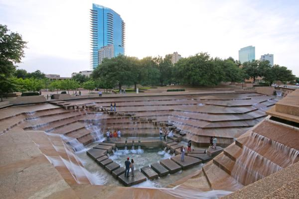 Fort Worth Water Gardens at Dusk