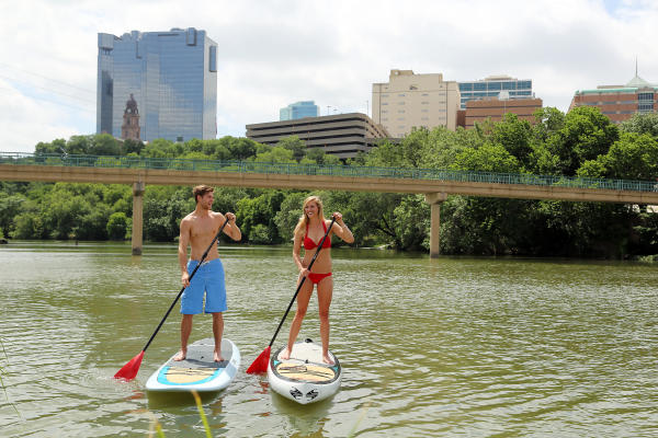 Paddle Boarding on the Trinity River