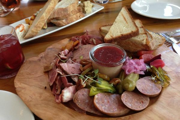 Platter of food at Oxlot 9