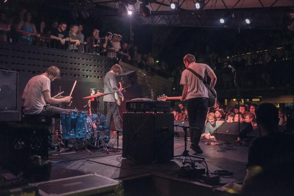 Band on stage at the Mohawk live music venue