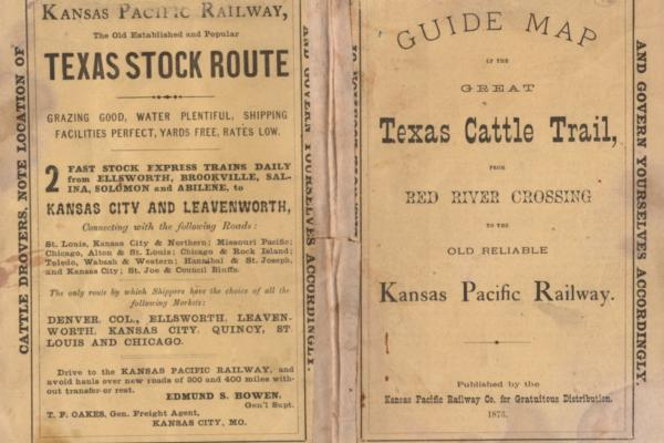 Guide Map of The Great Texas Cattle Trail