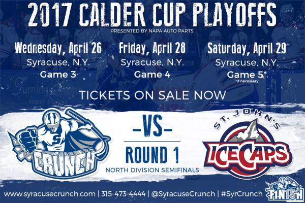 Syracuse Crunch Calder Cup Home Playoff Schedule