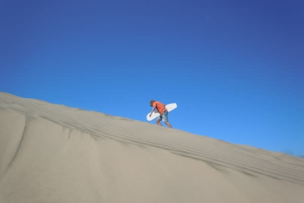 Sandboarding view by Lisa Lawton