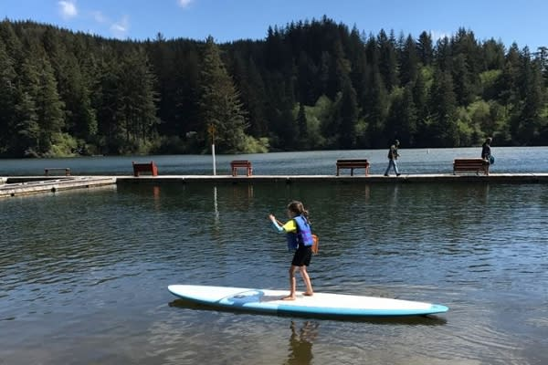 Paddling in Mercer Lake Resort Marina by Taj Morgan