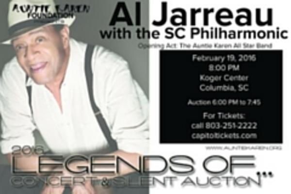 The perfect Valentine's Day gift: An evening of love featuring Al Jarreau and the SC Philharmonic at the Koger Center for the Arts.