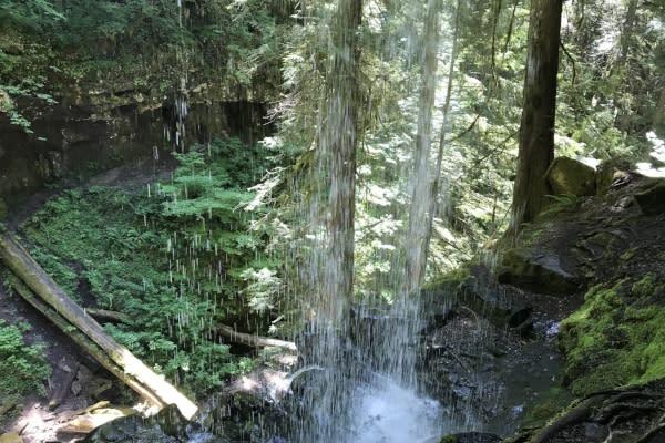 Behind Trestle Creek Falls by Taj Morgan