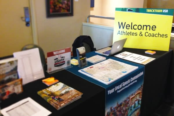 Sports Welcome Table at NCAA Track & Field