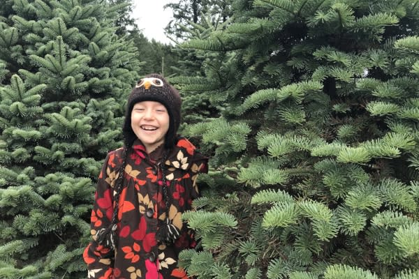 Christmas Tree Hunting in McKenzie River by Taj Morgan