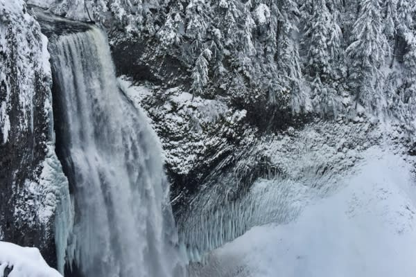 Salt Creek Falls in Winter by Abbie Youngs