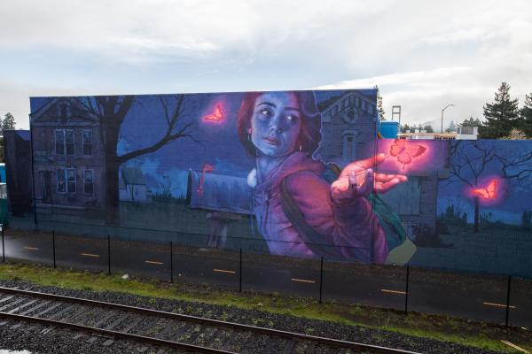 Knocking on Heaven's Door -  by Bezt of Etam Cru & Natalia Rak - Napa Rail Arts district
