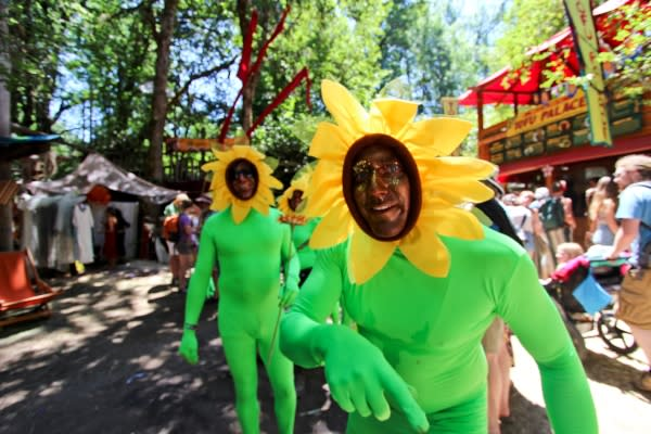 Oregon Country Fair Sunflower by Brittney Reynolds