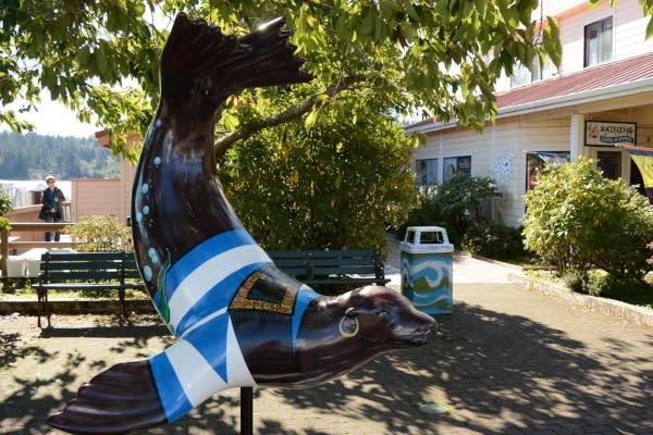 Sea Lion Statue Art in Florence by Colin Morton