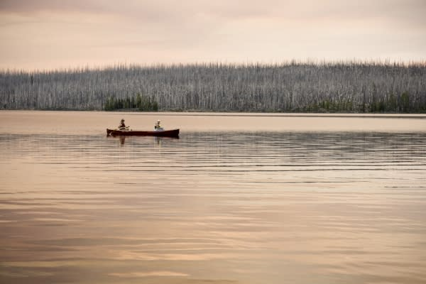 Waldo Lake Canoe by Skye Ten Eyck