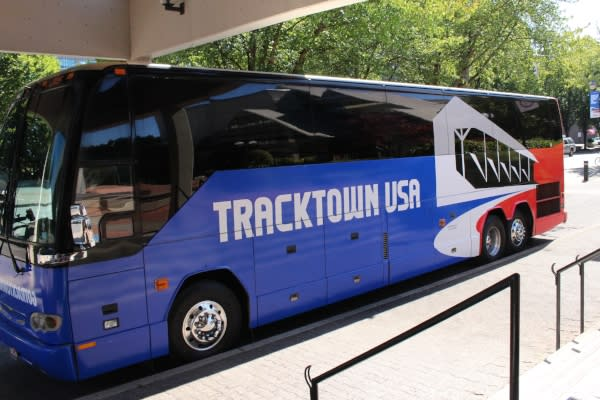 TrackTown USA MTR Western Shuttle Bus By Janelle Breedlove