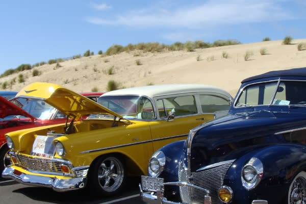 Car Show Near Oregon Dunes by Sheryll Loftin
