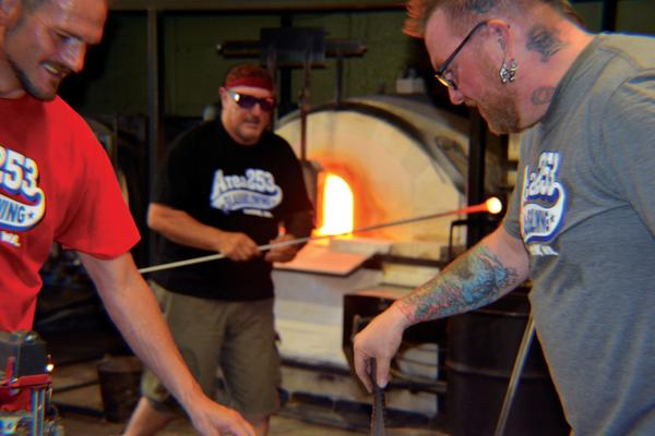 Patrick at Area 253 Glassblowing Studio in Tacoma, Washington