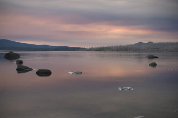 Waldo Lake Sunset by Skye Ten Eyck