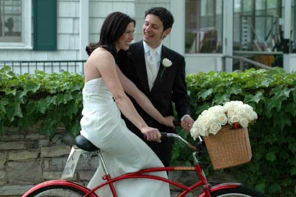 Cycling Newlyweds by Loren Kerns
