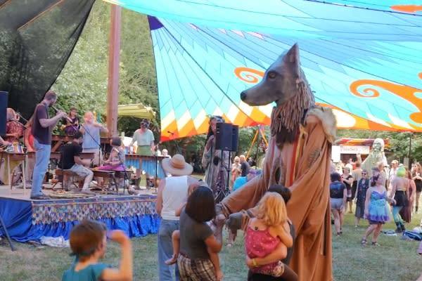 Oregon Country Fair Stage by Eugene, Cascades & Coast