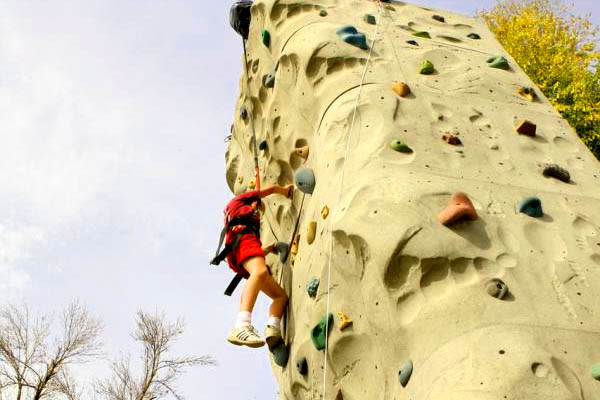 clas ropes course rock climbing
