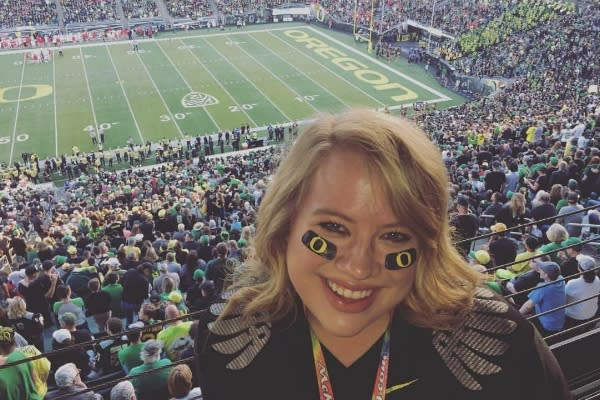 Duck Fan at Autzen Stadium by Hayley Radich