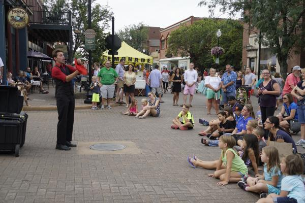 Street Juggling and Circus Performances at Little Hills Festival