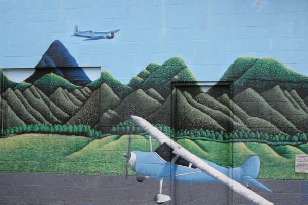 Hobby Field Airport Mural by Taj Morgan