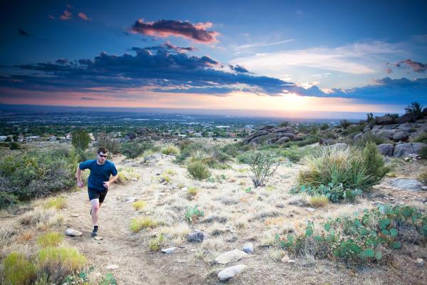 Running in the Sandia Foothills
