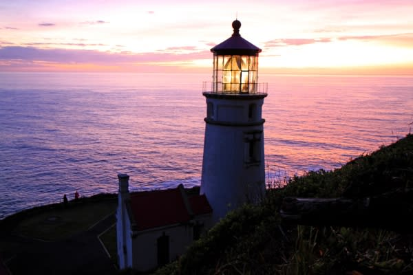 Heceta Head Lighthouse at Sunset by Patrice Raplee