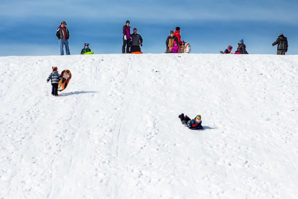 Sledding Hill in Fort Wayne, Indiana