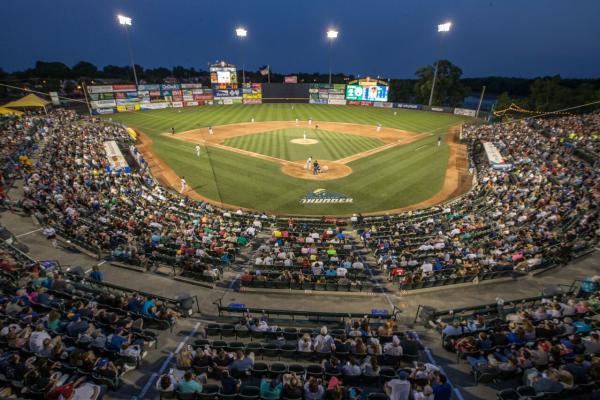 Trenton Thunder Baseball Game-Packed House