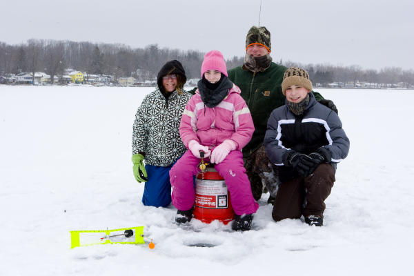 Ice Fishing in Cayuga County - Owasco Lake - Group Ice Fishing