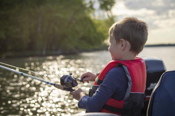 Fishing on Cross Lake in Cayuga County