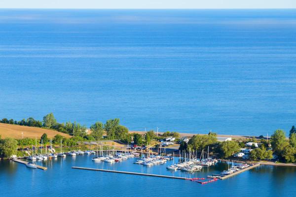 Ariel view of Fair Point Marina